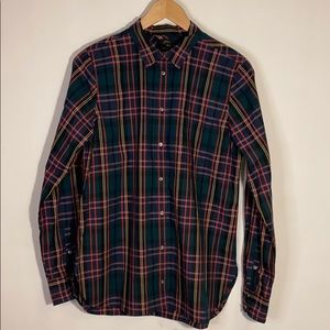 J.Crew  <classic fit> plaid shirt - Size 10